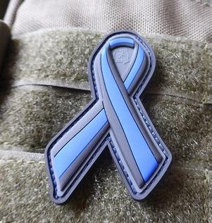 "JTG ""Thin Blue Line Ribbon""-velkromerkki, 3D"