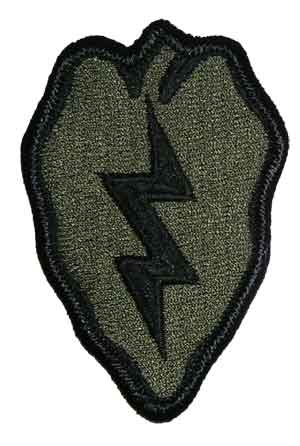 US Army joukko-osastomerkki, 25th Infantry Division, subdued