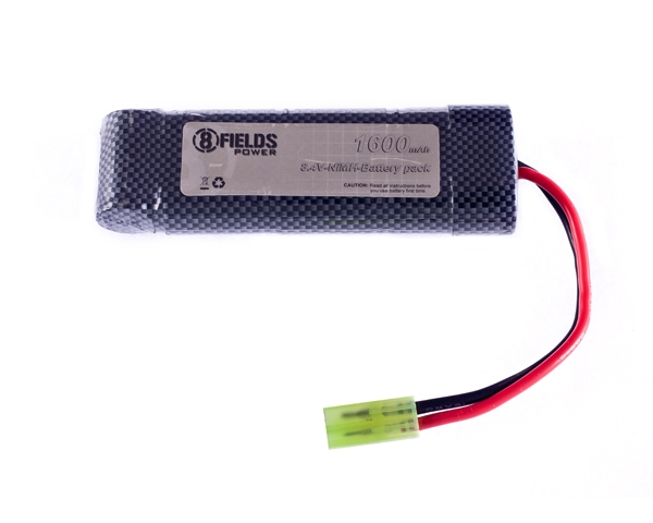 8th Fields 8.4V 1600 mAh pack NiMH-akku, mini-liitin