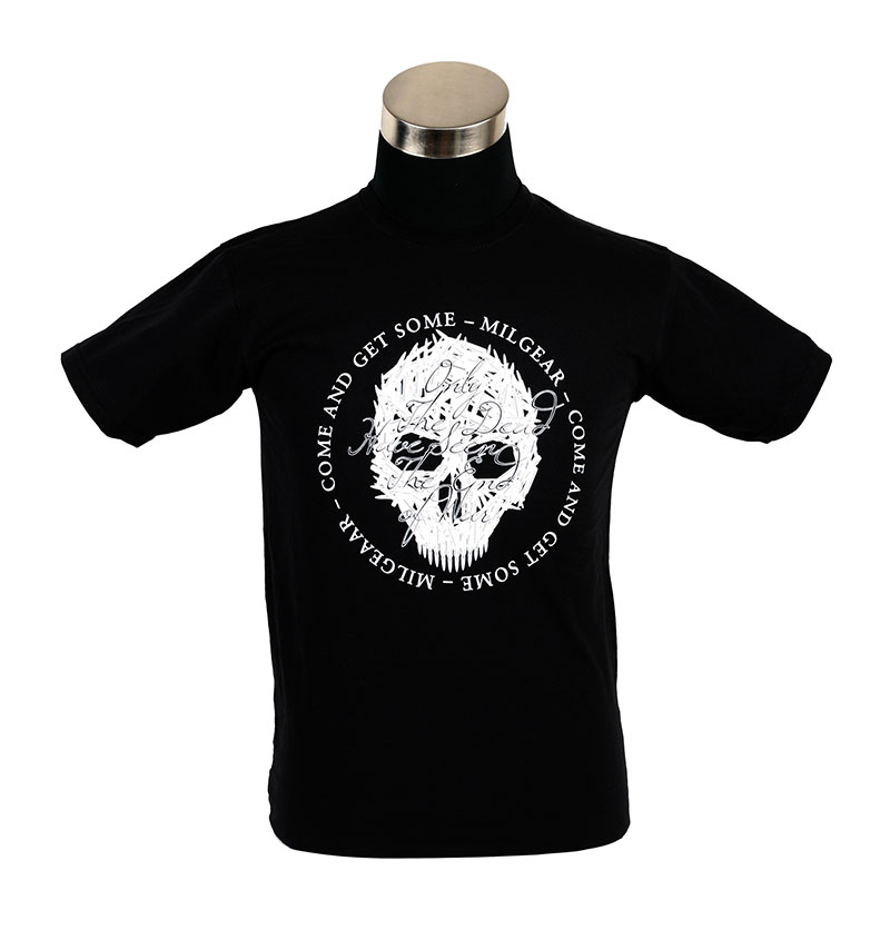 """MilGear Army Collection """"Only the Dead Have Seen the End of War"""" t-paita, musta, Pirate edition"""