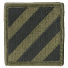 US Army joukko-osastomerkki, 3rd Infantry Division, subdued