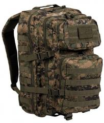 Mil-Tec Assault reppu Large, digital woodland 40 l
