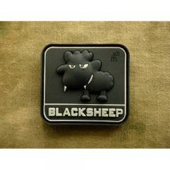 "JTG ""Little Black Sheep""-velkromerkki, 3D, musta GID"