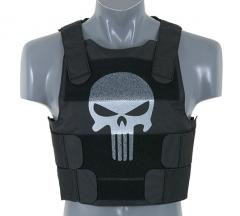 Punisher Personal Body Armor, musta, pääkallo