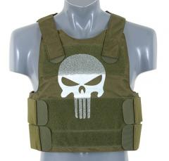 Punisher Personal Body Armor, oliivinvihreä, pääkallo