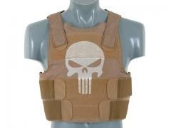 Punisher Personal Body Armor, kojootinruskea, pääkallo