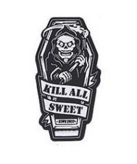"""Kill All Sweet"" -velkromerkki, 3D, musta"