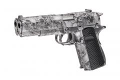 Armorer Works MX0100 Double Barrel Gas pistol, Skull