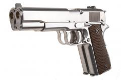 WE 1911 Double Barrel Gas pistol, Silver
