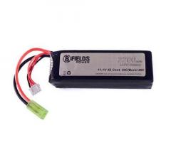 Akku, LiPo 11.1V, 8th Fields - 2200 mAh (mini-liitin) 3S 20/40C, pack