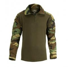 Invader Gear combat shirt, ripstop, woodland