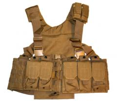 Molle Chest set + taskut, kojootinruskea