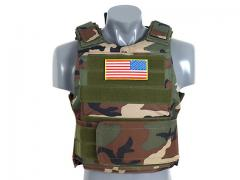 Tactical PT body armor, woodland