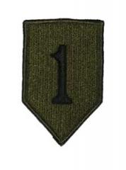 US Army joukko-osastomerkki, 1st Infantry Division, subdued
