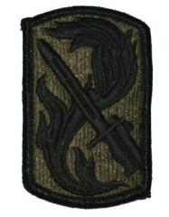US Army joukko-osastomerkki, 198th Light Brigade, subdued