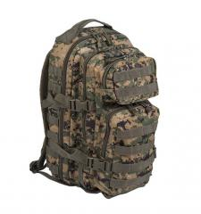 Mil-Tec Assault reppu, digital woodland 20 l