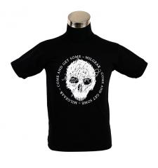 "MilGear Army Collection ""Only the Dead Have Seen the End of War"" t-paita, musta, Pirate edition"